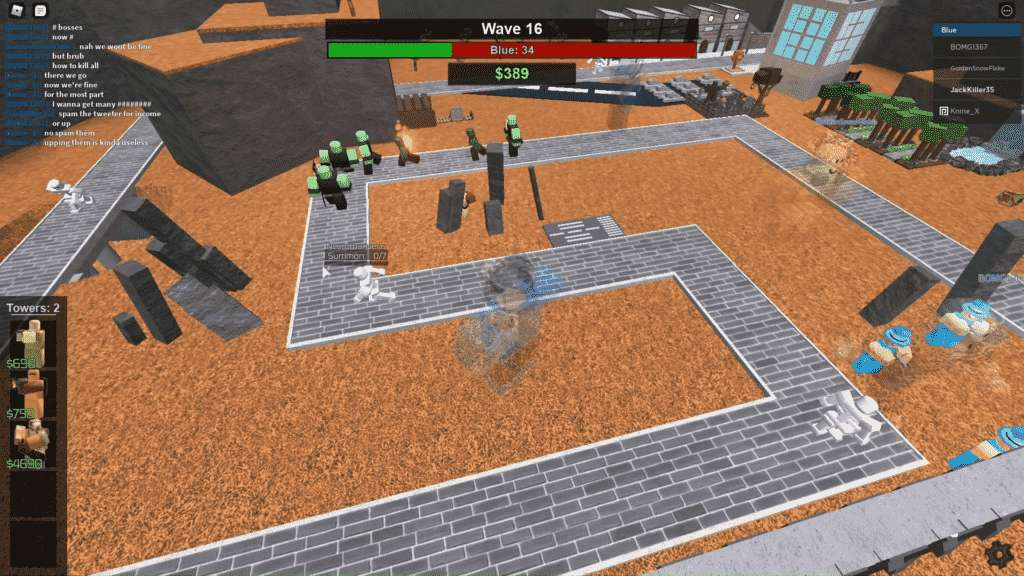 Roblox Tower Battles Gameplay