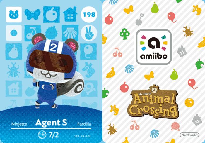 Agent S Animal Crossing amiibo Card