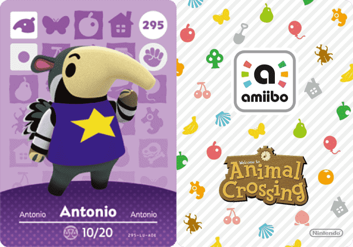 Animal Crossing Antonio Amiibo Card