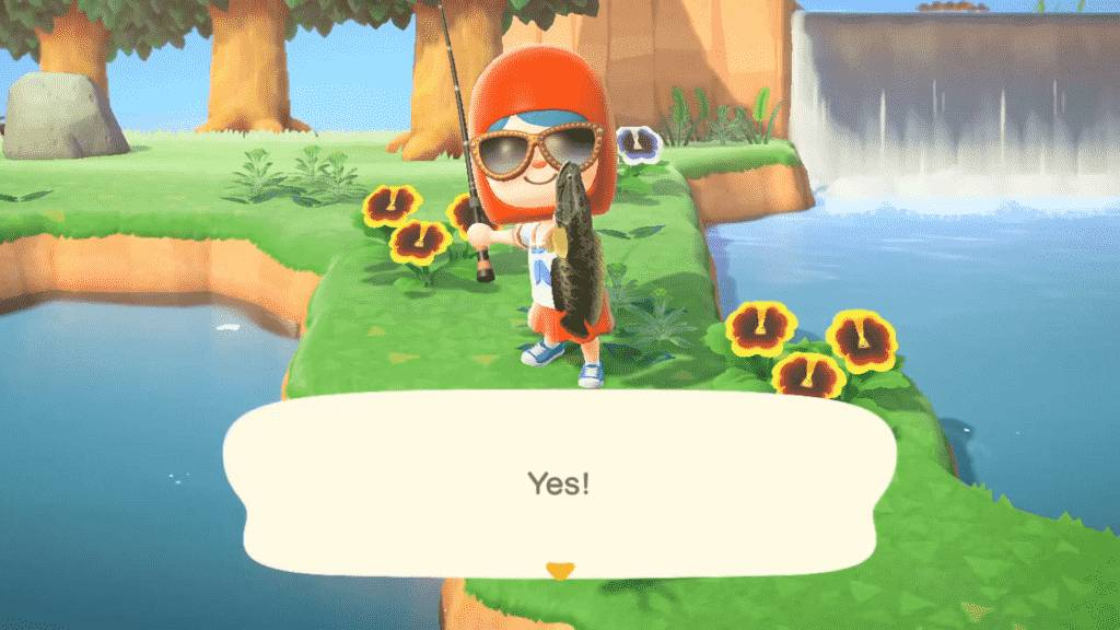 Animal Crossing Giant Snakehead Catching