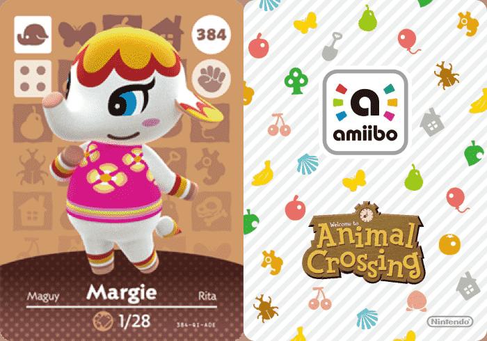 Animal Crossing Margie Amiibo Card