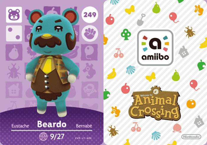 Beardo Animal Crossing Amiibo Card