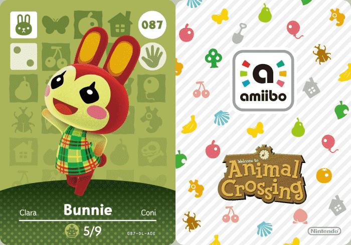 Bunnie Animal Crossing Amiibo Card