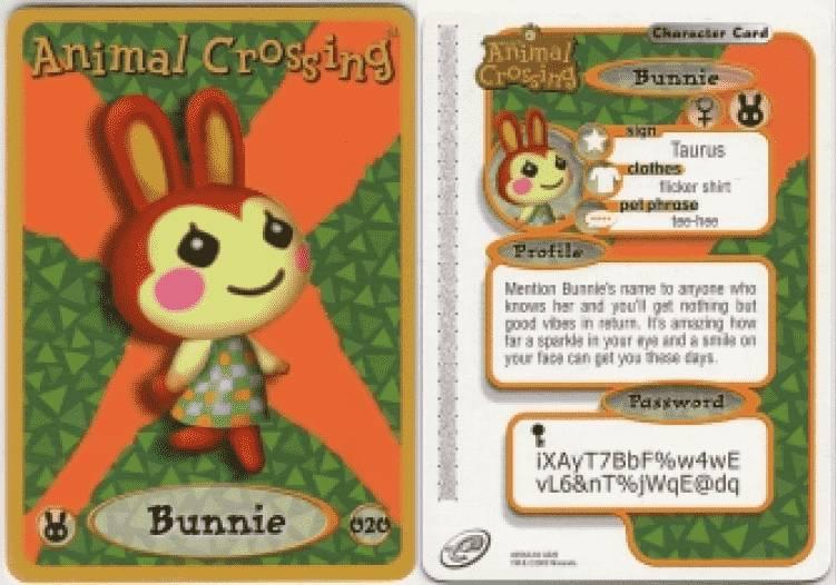 Bunnie Animal Crossing eCard