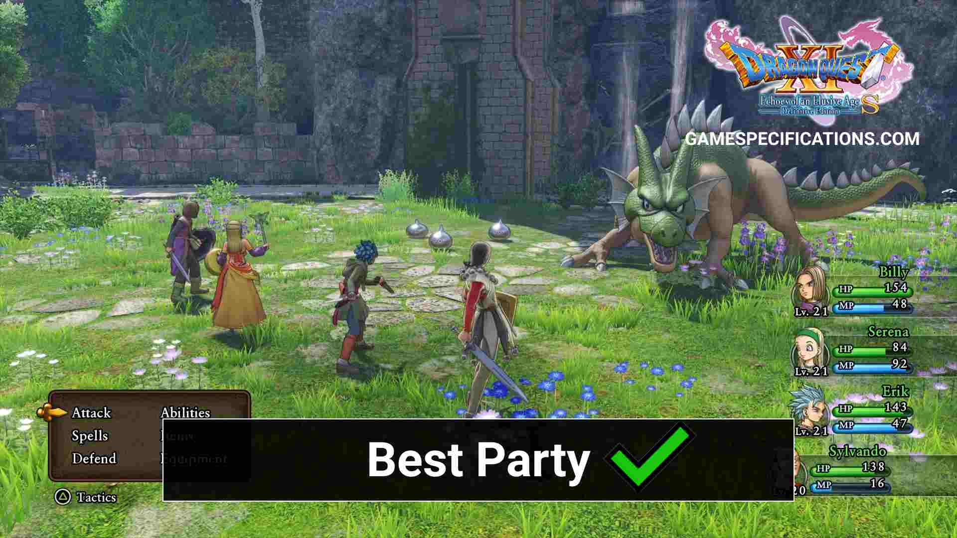 Dragon Quest 11 Best Party Guide Game Specifications