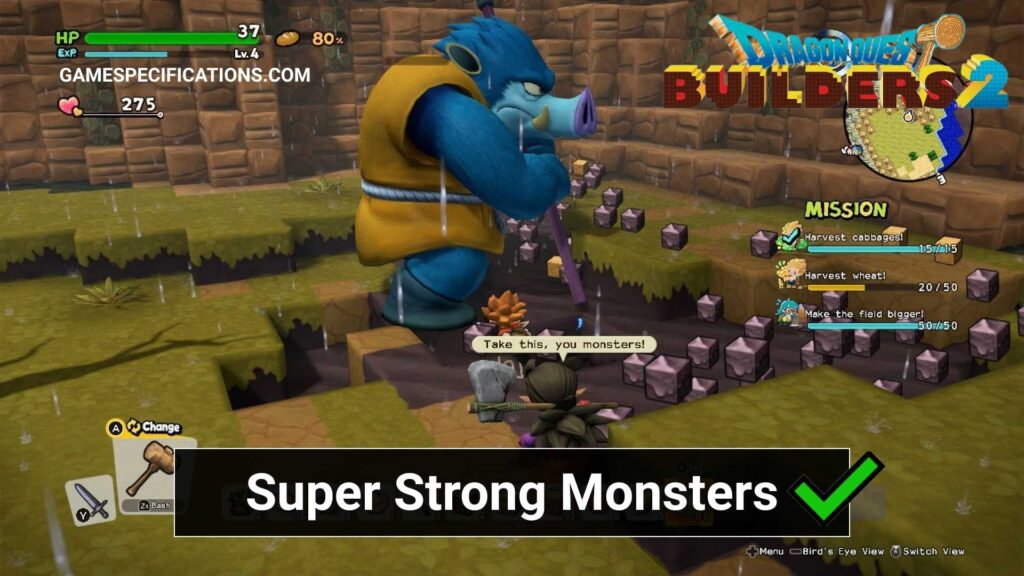 Dragon Quest Builder 2 Super Strong Monsters