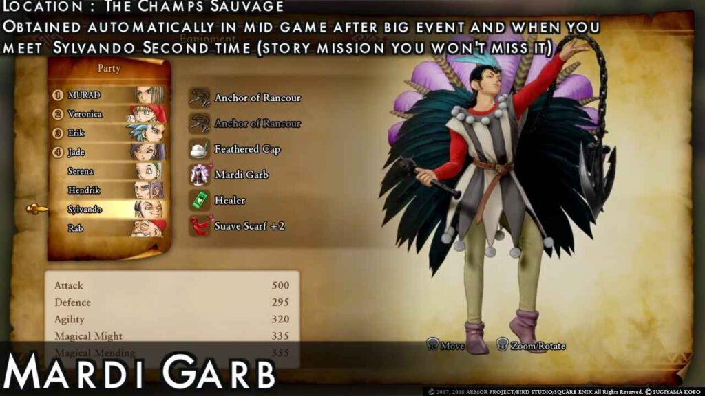 Dragon Quest XI Outfits for Sylvando
