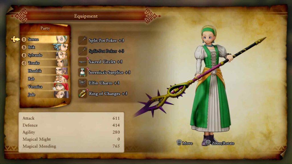 Dragon Quest XI Serena - Appearance
