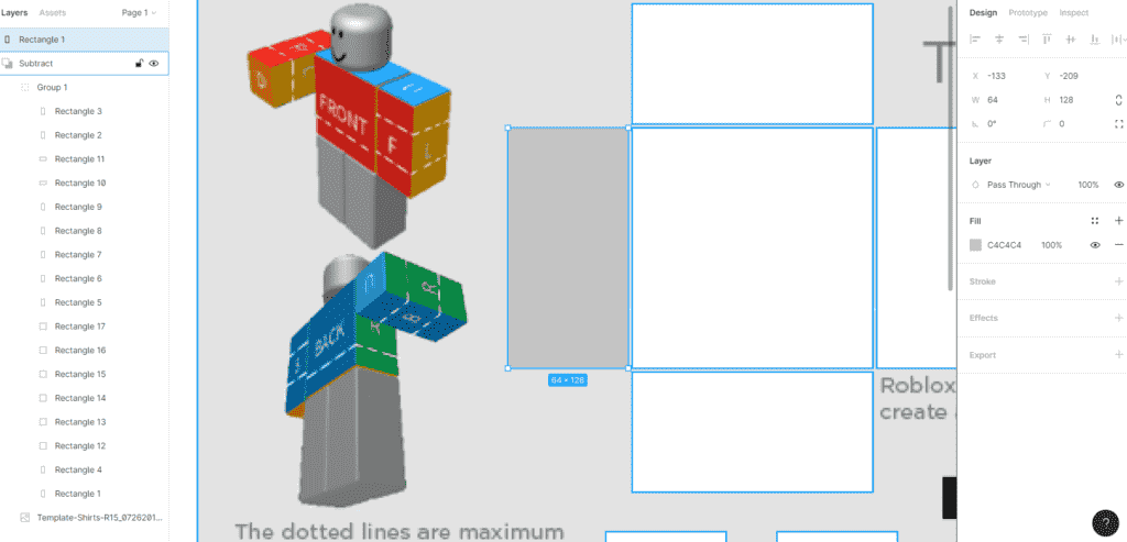 Figma transparent shirt templates Roblox