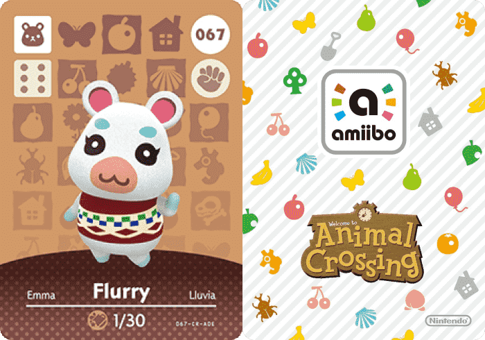 Flurry Animal Crossing - amiibo Card