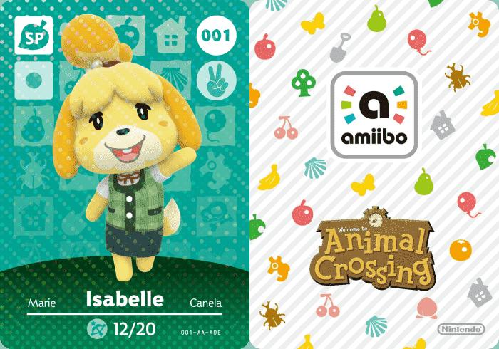Isabelle Animal Crossing Amiibo Card