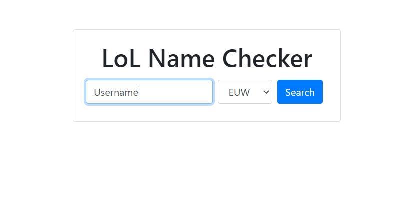 League of Legends Name Checker Using