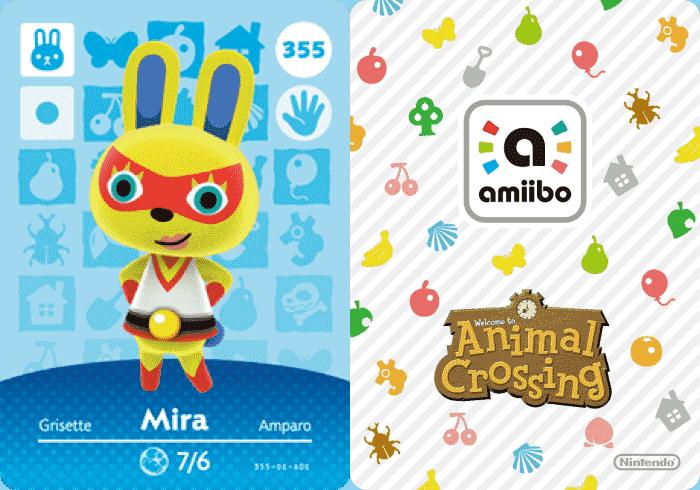 Mira Animal Crossing amiibo Card