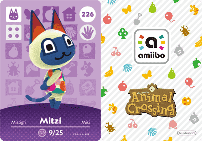 Mitzi Animal Crossing Amiibo Card