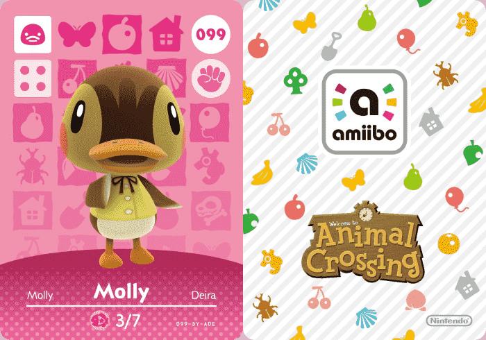 Molly Animal Crossing Amiibo Card