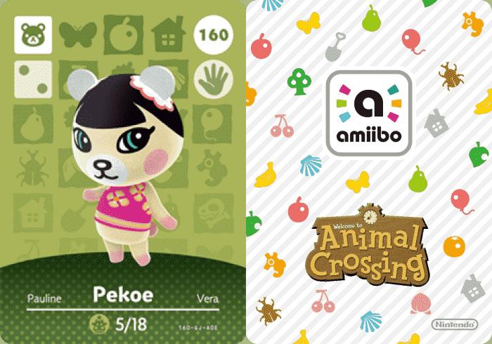 Pekoe Animal Crossing - amiibo Card