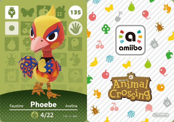 Phoebe Animal Crossing Amiibo Card