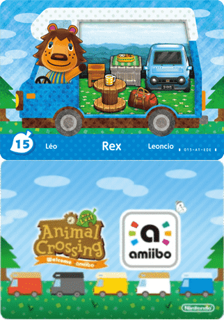 Rex Animal Crossing Amiibo Card