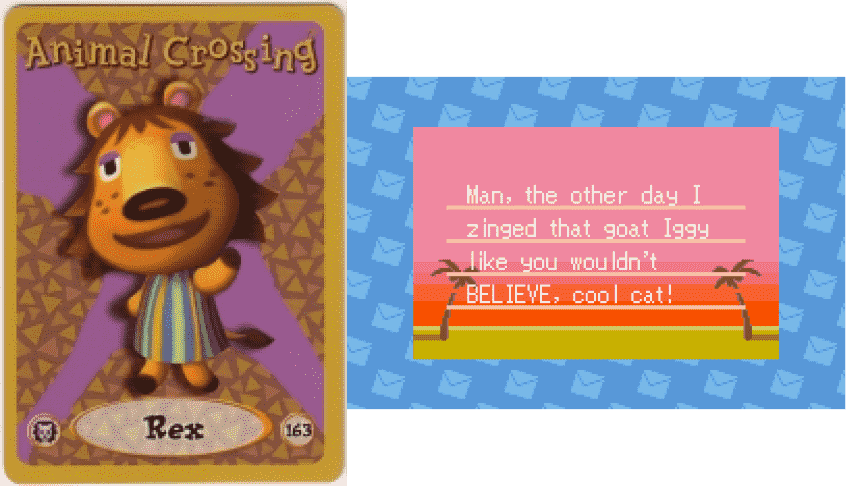 Rex Animal Crossing eCard