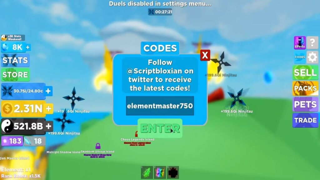 Roblox Ninja Legends Codes List