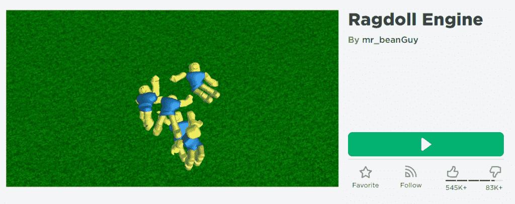 Roblox Ragdoll Engine Game