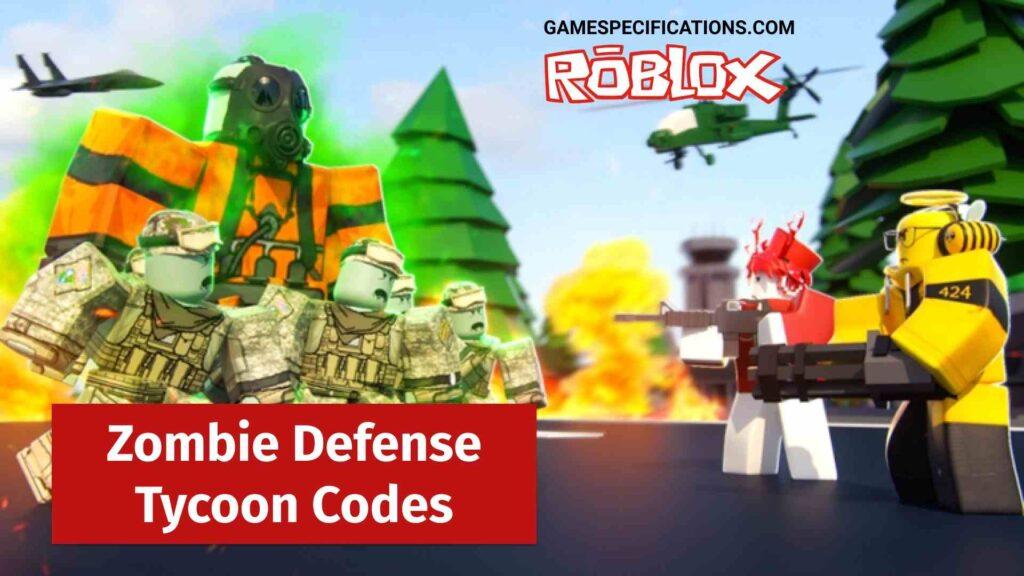 Roblox Zombie Defense Tycoon Codes