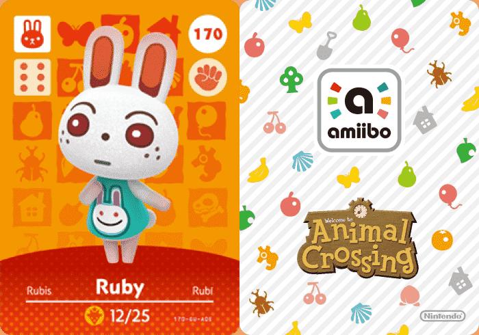 Ruby Animal Crossing Amiibo Card