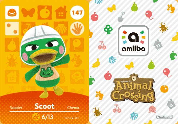 Scoot Animal Crossing Amiibo Card