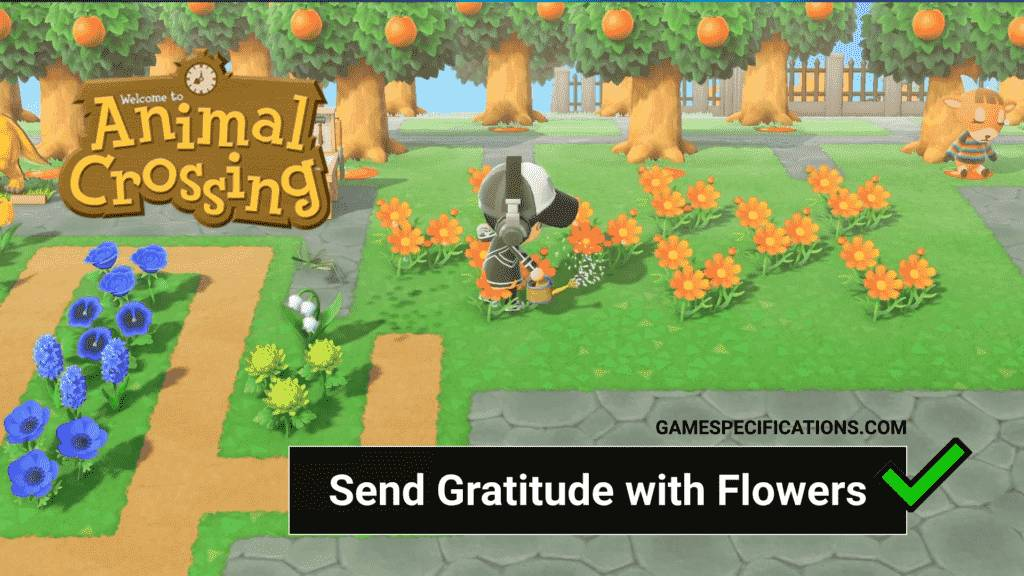 Send Gratitude With Flowers Animal Crossing