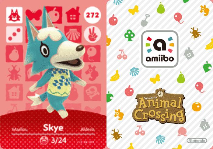 Skye Animal Crossing: Amiibo Card