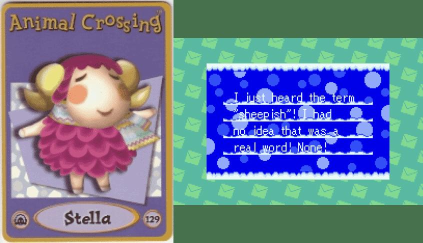 Stella Animal Crossing - e Card