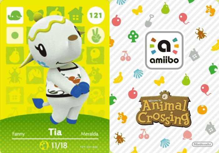Tia Animal Crossing amiibo Card