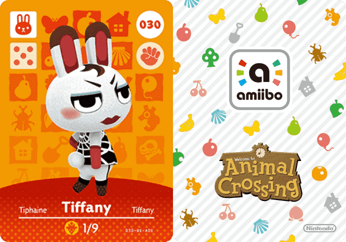 Tiffany Animal Crossing Amiibo Card