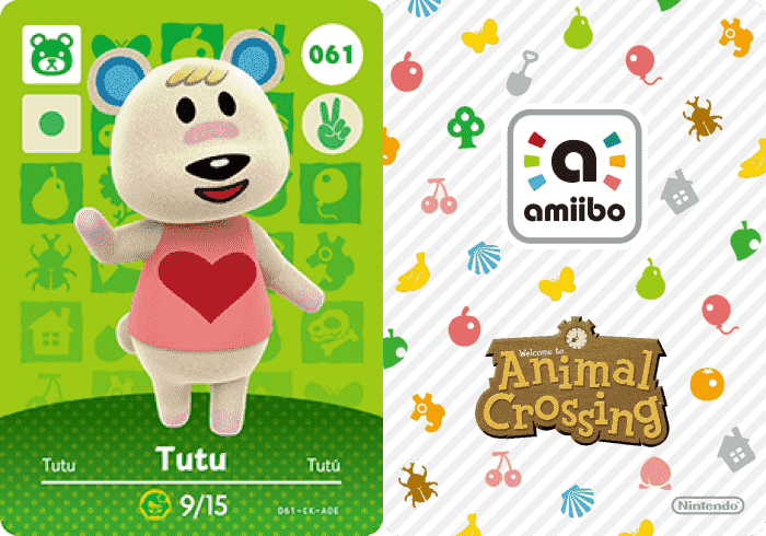 Tutu Animal Crossing - Amiibo Card