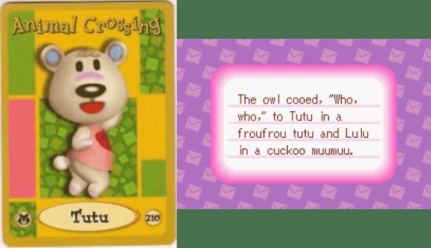 Tutu Animal Crossing - e Card