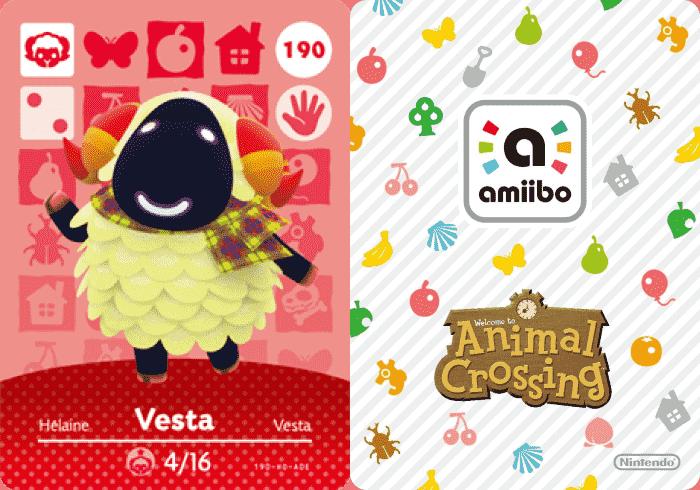 Vesta Animal Crossing Amiibo Card