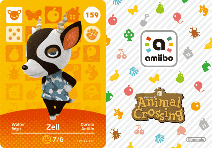 Zell Animal Crossing - amiibo Card