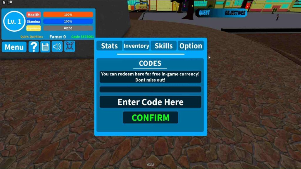 Boku No Roblox Remastered Redeem Codes