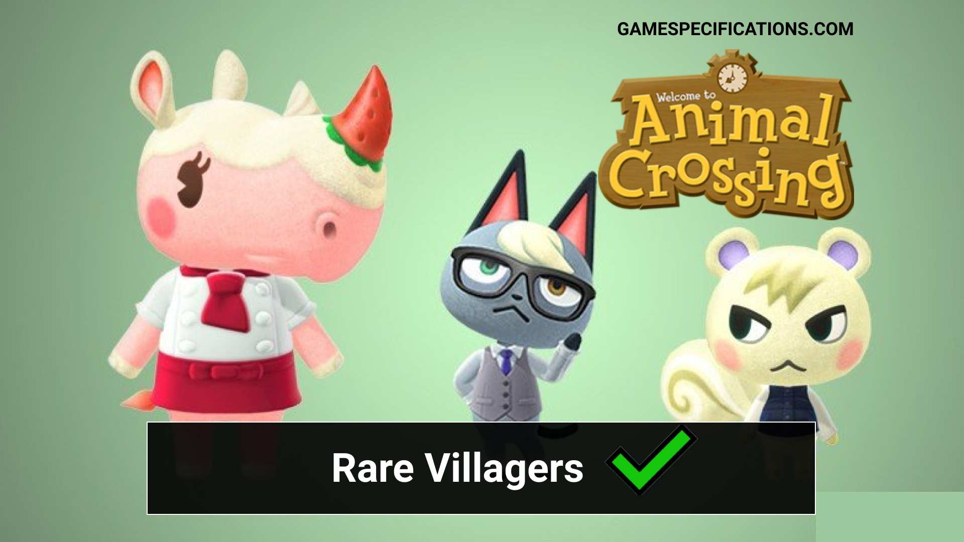 Top 20 Animal Crossing Rare Villagers Game Specifications