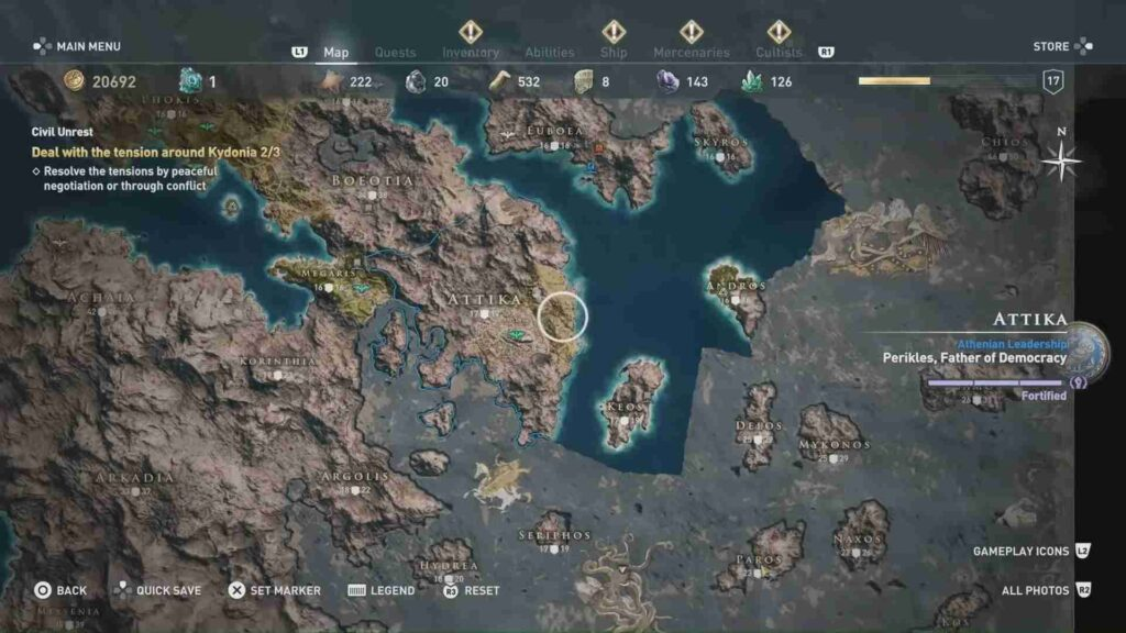 Assassin's Creed Odyssey Arena Location
