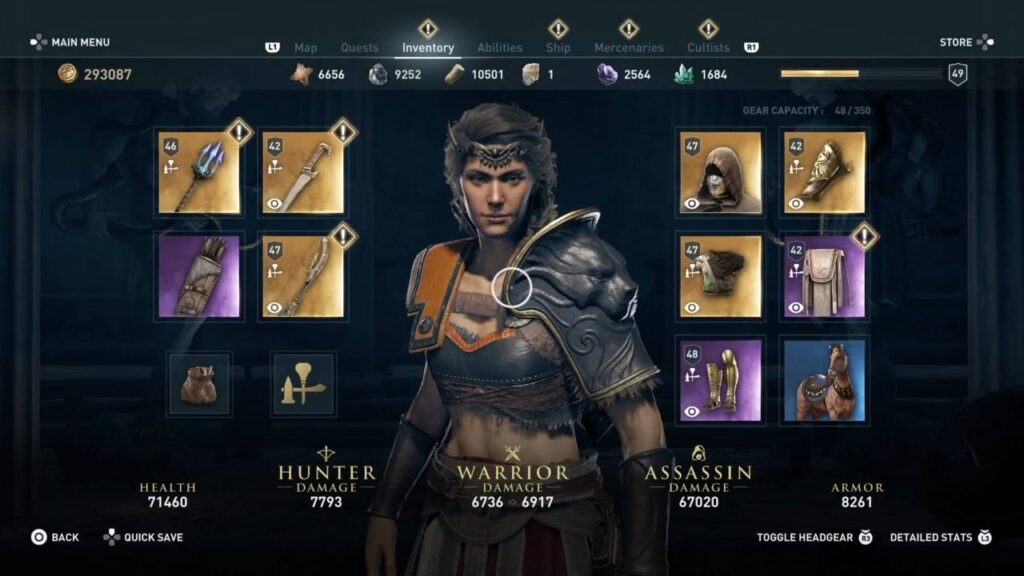 Assassin's Creed Odyssey Erymanthian Boar Abilities and Loadout
