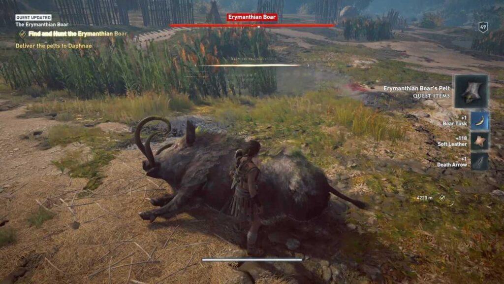 Assassin's Creed Odyssey Erymanthian Boar Defeat