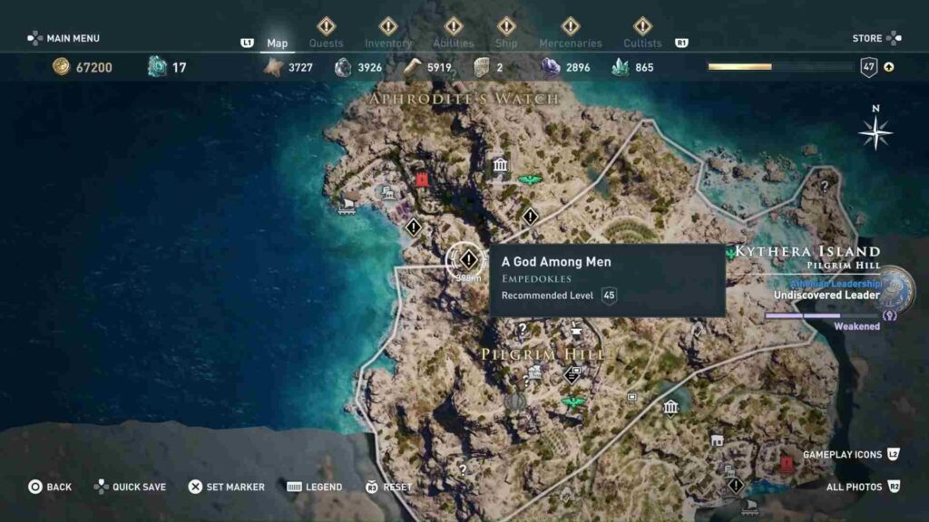 Assassin's Creed Odyssey Forgotten Isle Quests