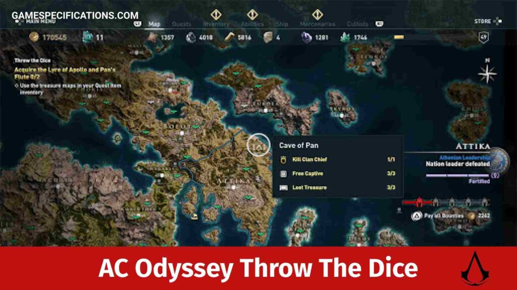 Assassin's Creed Odyssey Throw The Dice