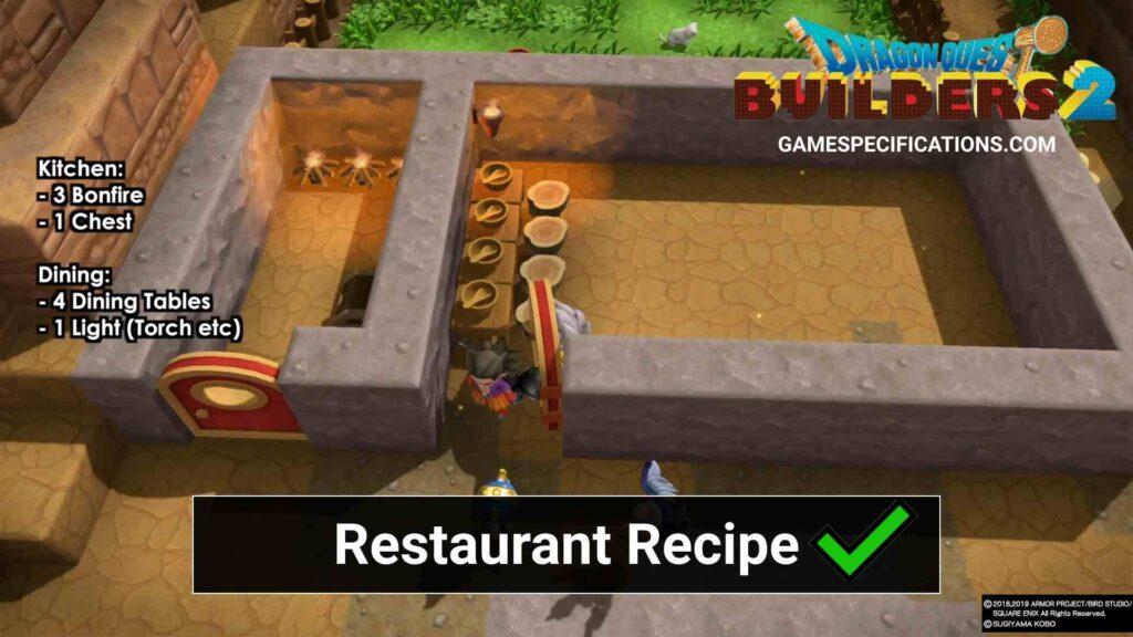 Dragon Quest Builders 2 Restaurant