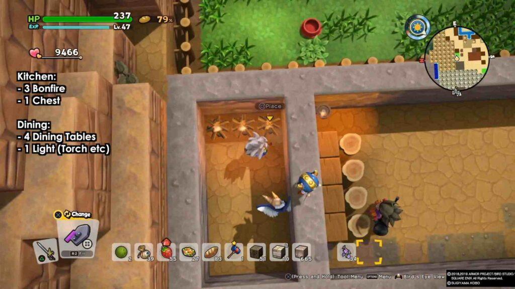 Dragon Quest Builders 2 Restaurant Process 1