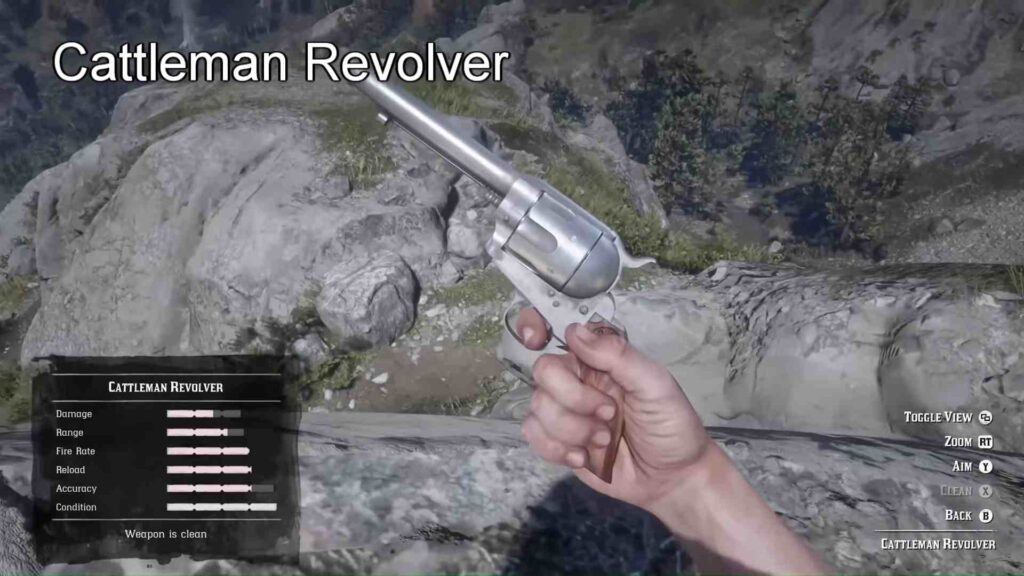 Red Dead Redemption 2 Weapons Calloway's Revolver