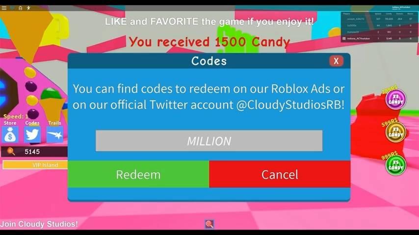 Roblox Candy Simulator Redeem Codes