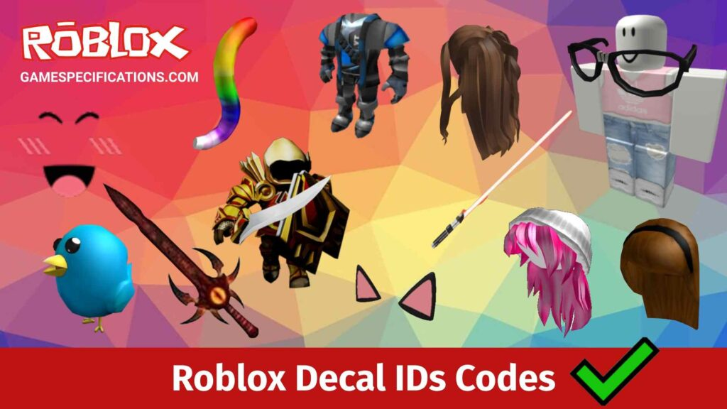 Roblox Decal IDs Codes