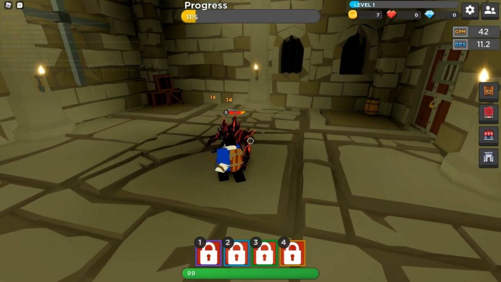 Roblox Dungeon Fall Gameplay